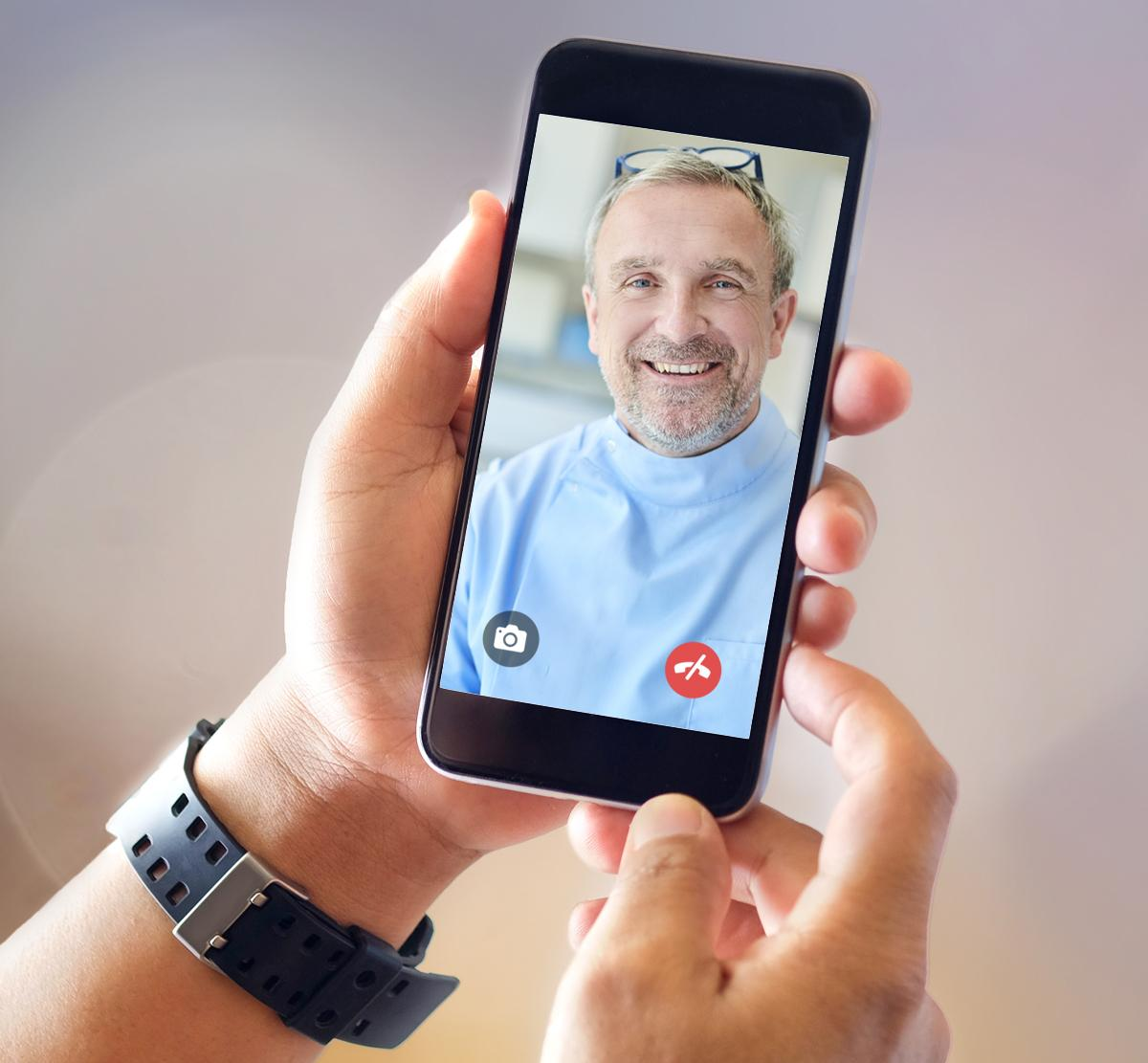 Video call with dentist
